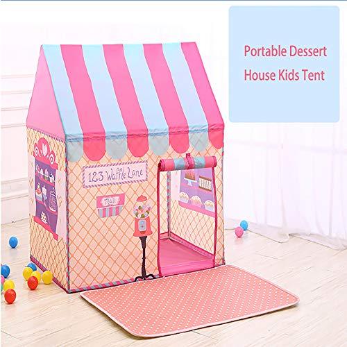 CLII Kinder Zelt Baby Spielhaus Kriechtunnel Druckereien Jungen Und Mädchen Innen-Spielzeug-Schloss Zelt Spielzelt, Im Freien Kindertheater Geschenk,Rosa