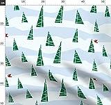 Winter, Weihnachten, Baum, Schnee Stoffe - Individuell