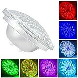 PAR 56 LED Piscina,AC 12V 54W Led Piscina Iluminacion Con Mando a Distancia,IP68 Impermeable Foco de Piscina lámpara para piscinas(Par56 54W-RGB)