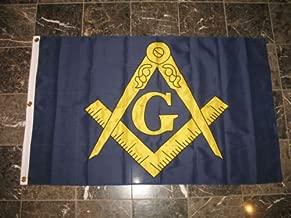 3x5 Embroidered Freemason Mason Masonic 600D 2ply Nylon Flag 3x5 - Bright Color UV Resistant - Prime Outside Garden Cave Home Decor