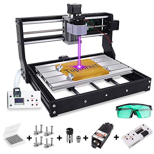 [Upgraded Version] 2500mw Laser Engraver CNC 3018 Pro Engraving Machine, GRBL Control 3 Axis Mini DIY CNC Router Kit with Offline Controller, Working Area 300x180x45mm, for Wood Plastic Acrylic PVC
