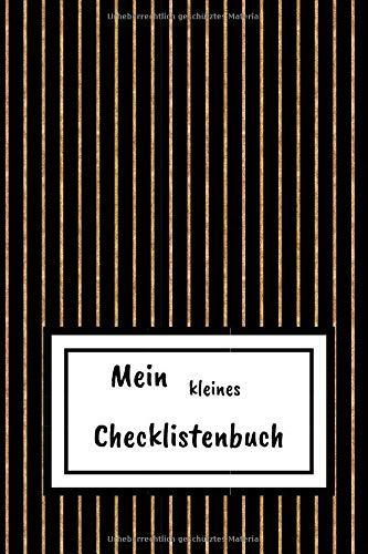 Mein kleines Checklistenbuch: To Do Planer mit Checkbox zum Abhaken | Aufgabenplaner A6 - kompakt | 100+ Seiten | Motiv: Streifen
