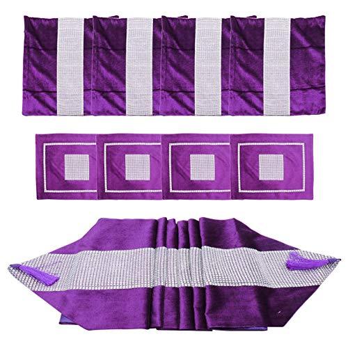 WUCHENG Corredor de Mesa de Franela, Decoración de la Mesa de Bodas, Banquete, Nueva decoración de Mesa Moderna, 1 Set Camino de Mesa (Color : A)