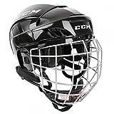 CCM Fitlite 40 Helm Combo Senior XS, Größe:XS, Farbe:schwarz