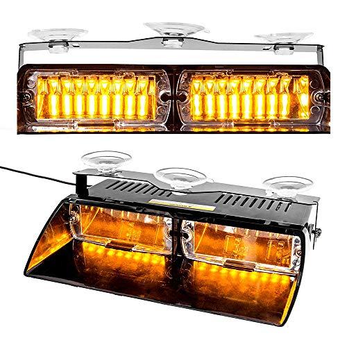 Maso - Lampe stroboscopique d'urgence - 16 LED - Ambre - Clignotant - 12 V