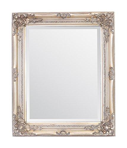Select Mirrors Rhone Wall Mirror - Estilo barroco antiguo - Shabby Chic - Madera maciza - Acabado a mano - Champagne antiguo - 50 cm x 60 cm