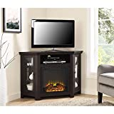 Walker Edison Jackson Collection W48FPCRBW 48' Wood Corner Media TV...