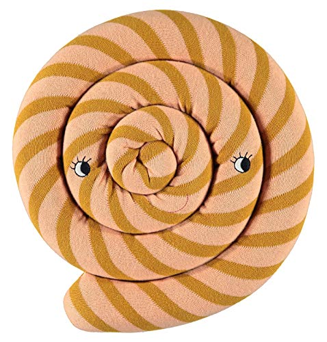 OyOy Mini Lollipop Cushion Caramel - Süßes Rosa Hellbraun Gestreiftes Baby Kinder Kissen Kuschelkissen und Schmusekissen - Baumwolle Durchmesser 30 cm