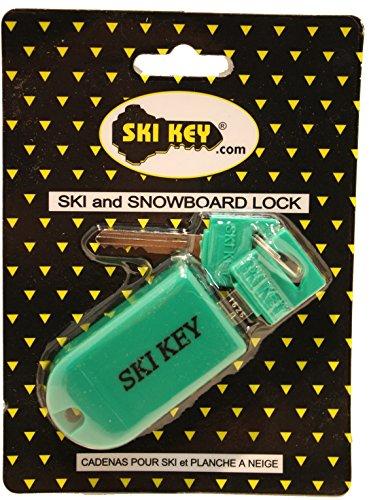 Ski and Snowboard-Fat Ski Lock (Green)