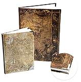 Logbuch-Verlag Juego de 2 cuadernos DIN A4 A5 en blanco + a rayas para personalizar el trabajo,...