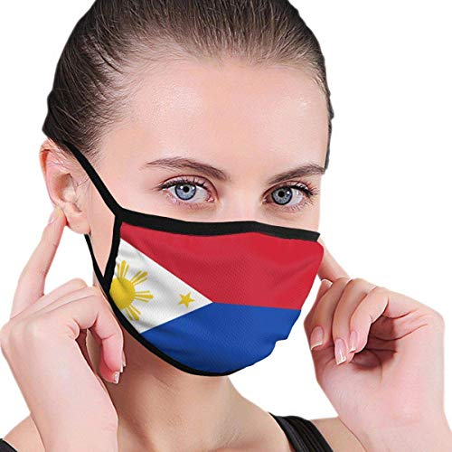 Kriegsflagge der Philippinen Männer Frauen Kinder Teenager Grafiken Rauch Allergien Waschbar Wiederverwendbarer Mundschutz für die Gartenarbeit