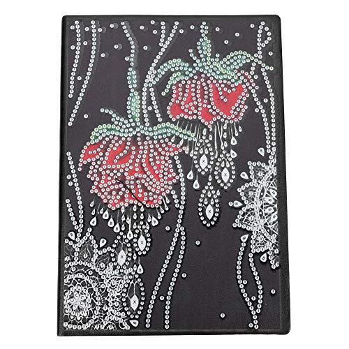 Gmkjh Cuadro de Diamante, Cuaderno de Bricolaje, Kit de Herramientas de Bricolaje de Cuaderno de Pintura de Cuadro de Diamante Rosa con Forma Especial para Regalo de cumpleaños