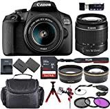 Canon EOS 2000D (Rebel T7) DSLR Camera Bundle with 18-55mm Lens + Sandisk 64GB Memory Card + Accessory Kit