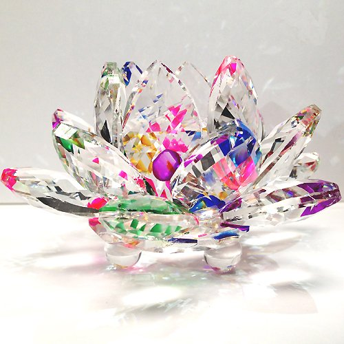 Sparkle Crystal Lotus Flower is good traditional 15 year wedding anniversary gift for husband
