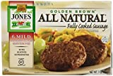 Jones, All Natural Golden Brown Sausage Patties, Mild, 7 oz (Frozen)