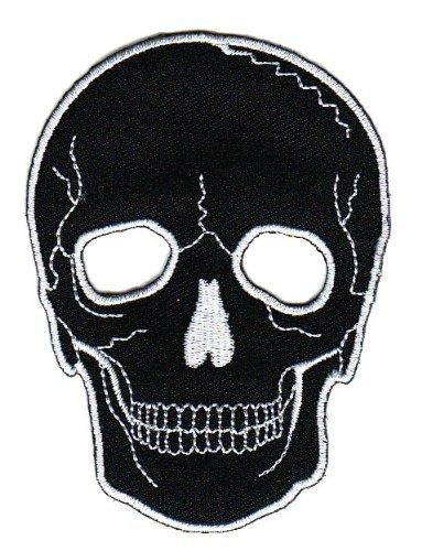 Totenkopf Skull Aufnäher Bügelbild Aufbügler Iron on Patches Applikation