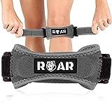 Roar® Pack 2X Rodillera Cinta Rotuliana, Rodillera Menisco, Cincha Rotuliana, Rodilleras Menisco y Ligamento, Rodillera Neopreno, Rodillera para Menisco, Rodilleras Condromalacia Rotuliana (Gris)