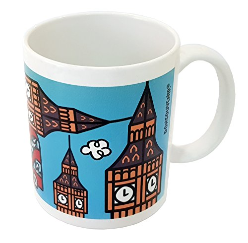 DONSOUVENIR MUG London. Taza Londres. Modelo: Big Ben & Bus