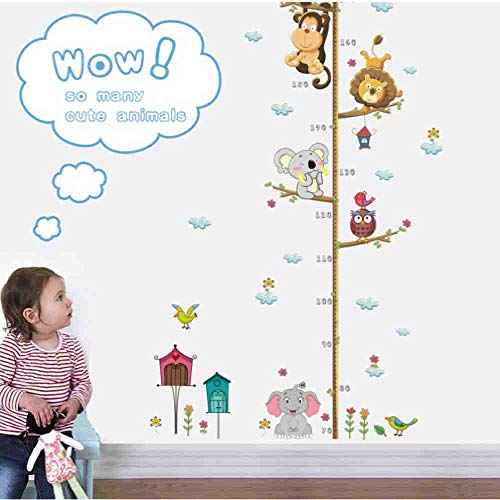 JPDP Kids Growth Chart Height Measure Wall Stickers Adhesive Vinyl Children Nursery Baby Room Decor New