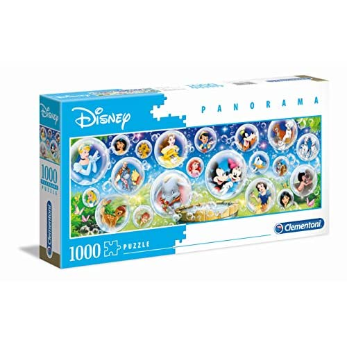 Clementoni - 39515 - Disney Panorama Collection - Disney Classic - 1000 Pezzi - Made In Italy - Puzzle Adulto
