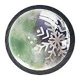 AITAI Juego de 4 pomos decorativos para puerta, diseño de copo de nieve, para armario, cajón, aparador, dormitorio