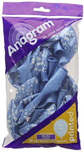 Amscan Baby Boy Latex ballonnen, bedrukt, Icy Blue