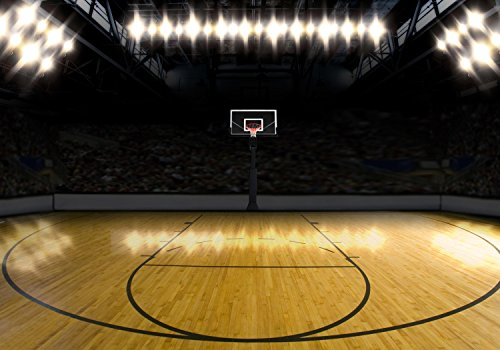 wandmotiv24 Fototapete Basketball Platz, XXL 400 x 280 cm - 8 Teile, Fototapeten, Wandbild, Motivtapeten, Vlies-Tapeten, Sport M0929