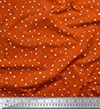 Soimoi Orange Kreppseide Stoff Schnee Winter-Thema Stoff