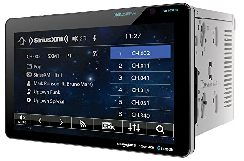 Soundstream VR-1032XB Double DIN SiriusXM Ready Bluetooth in-Dash DVD/CD/AM/FM Car Stereo Receiver with 10.3' Touchscreen