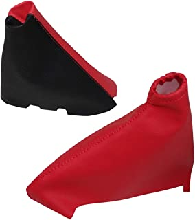 Funda para palanca de cambios de piel sint/ética con costuras de colores variables negro con costuras negro AERZETIX
