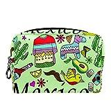 Bolsa de cosméticos Bolsa de Maquillaje Bolsa de cosméticos de Viaje, Bolso de Mano, Bolso de baño,Disfraz de Perro Taco