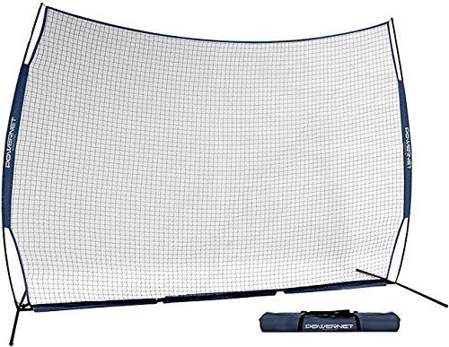 PowerNet 12 ft x 9 ft Sports Barrier Net | 108 SqFt of Protection | Safety Backstop | Portable EZ Setup Barricade for Baseball, Lacrosse, Basketball, Soccer, Field Hockey, Softball (Navy)