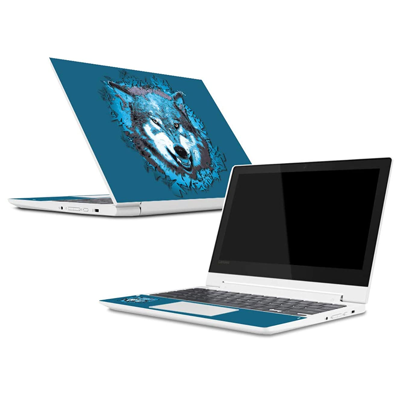 Mightyskins Skin Compatible with Lenovo Chromebook C330 (2018) - Wolf Shatter | Protective, Durable, and Unique Vinyl Decal Wrap Cover | Easy to Apply, Remove, and Change Styles | Made in The USA