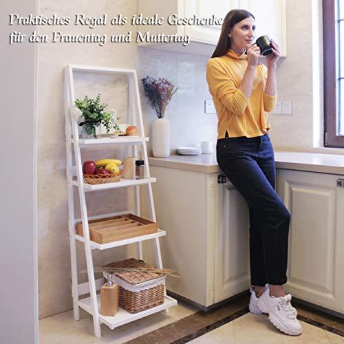 Estantería de cocina plegable, sin agujeros, de madera, para interior, salón, jardín