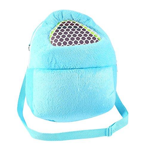 PET Tragetaschen Hamster Ratten Igel Kaninchen Schlafsack Breathable Portable Ausgehenden Reise Handtaschen Backpack Mit Schulterriemen ( Farbe : Blue )