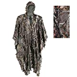 Hunting 3D Leafy Camouflage Ghillie Suit Camo Cape Cloak Stealth Clothing for Military CS Woodland Tactical Poncho