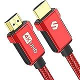 Silkland 4K HDMIケーブル 6.6フィート 高速 18Gbps HDMI 2.0ケーブル 4K HDR 3D 2160P 1080P イーサネット 亜鉛合金 30AWG 編組HDMIコード オーディオリターン (ARC) 対応 UHD TV Blu-ray PS4/3 プロジェクター