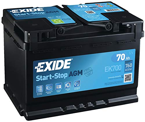 Exide EK700 Stop Start 12V 70Ah 760CCA TYPE 096 AGM VRLA Car...