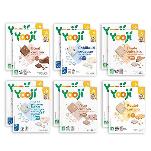 Yooji - Panier Premières Viandes et Poissons pour Bébé dès 6 Mois - Pour 120 Repas