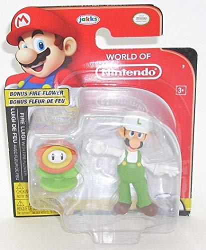 World Of Nintendo Super Mario Fire Luigi with Bonus Fire Flower