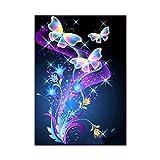 qingqingR Mariposa 5D Diamante Pintura DIY Bordado Punto de Cruz Decoración para el hogar Costura
