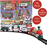 Toyland® - Ensemble de Train de Noël à Piles de 152 cm avec Elfes Mobiles, lumières et Sons