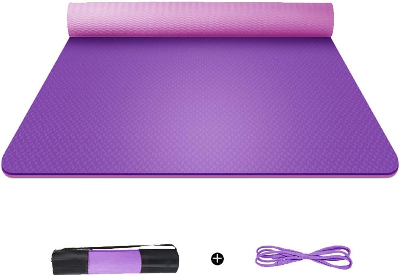 Wsjfc Yogamatte verbreitert Dicke Herren- und Damen-Fitnessmatte Rutschfeste, geschmacklose Yoga-Matte für Anfnger (Farbe   B, gre   1830  680  6mm)
