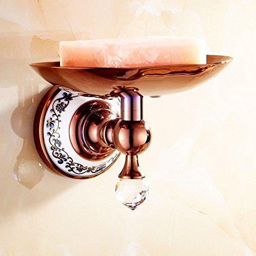XBR _ antiquités européenne céramique titulaire titulaire de savon en or rose antique savon bleu et blanc du savon en porcelaine délicate savon titulaire