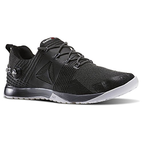 Reebok Men's Crossfit Nano Pump 2.0 Fitness Shoe Black Grey BD1266 (12 M US)