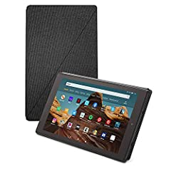 Designed by Amazon to protect and perfectly fit your Fire 10 (only compatible with 7th and 9th Generations - 2017 and 2019 releases) Slim design with built-in stand for hands-free viewing in landscape or portrait orientation Full-cover case with magn...