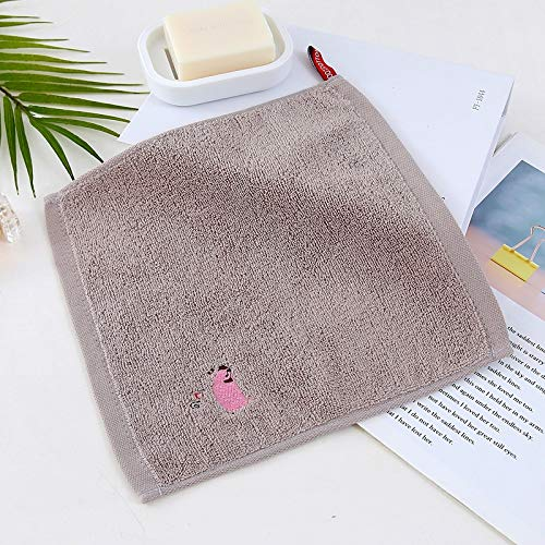 Pañuelo de algodón puro para bebé, tela absorbente para bebé, tela suave de algodón – Pañuelo bufanda para saliva toallitas reutilizables toalla de lactancia para niños pequeños (gris)