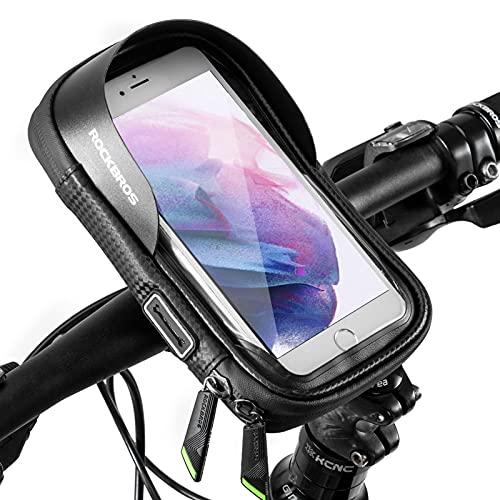 ROCKBROS Lenkertasche Fahrrad Handyhalterung 360 Grad Drehbar für GPS, Navi, Smartphone bis zu 6.0 Zoll Empfindlicher Touchscreen Wasserdicht Fahrradtasche Stil 2