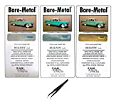 Bare Metal Foil Model Adhesive Sheet, Chrome, Ultra Bright Chrome, and Gold, 6x11.75' Sheets (Pack of 3) - with MYD Curved Tweezers