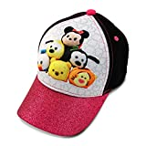 Disney Little Girls Tsum Tsum Assorted Characters 3D Pop Baseball Cap, Black/Pink/White, Age 4-7